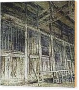 Deserted Chinese Farm House Wood Print