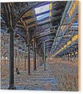 Deserted Railroad Platforms Wood Print