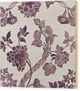 Design For A Silk Damask Wood Print