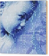 Designer Baby, Conceptual Artwork Wood Print