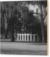 Destrehan Plantation In Black And White Wood Print