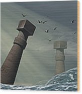 Destruction Of Atlantis Wood Print