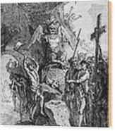 Destruction Of Idols, C1750 Wood Print