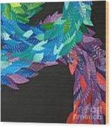 Detail - Kukulkan Wood Print by Mitza Hurst