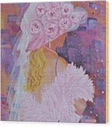 Pink Hat Beauty Wood Print