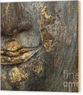 Detail Buddhas Lips Wood Print