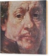 Detail From Portrait Of The Artist Rembrandt Canady Portfolio 9 Wood Print