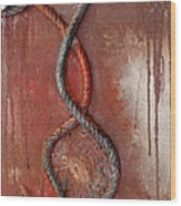 Detail Of Goodbye Kiss Wood Print