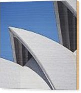 Detail Of The Roof Of The Sydney Opera Wood Print