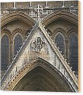 Detail Of Westminster Abbey Wood Print