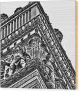 Details Of The Ellicott Buildings Roof Wood Print