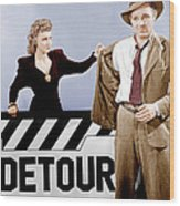 Detour, From Left Ann Savage, Tom Neal Wood Print by Everett