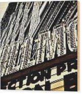 Detroit Fillmore Theatre Wood Print