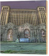 Detroit's Michigan Central Station - Michigan Central Depot Wood Print