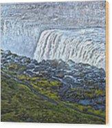 Dettifoss Waterfall Iceland Wood Print