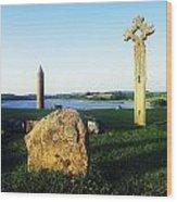 Devenish Island, Co Fermanagh, Ireland Wood Print