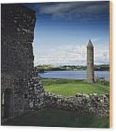 Devenish Monastic Site, Lough Erne, Co Wood Print