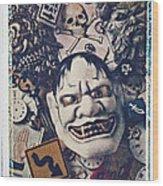 Devil Mask Wood Print