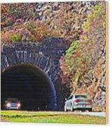 Devil's Courthouse Tunnel Wood Print