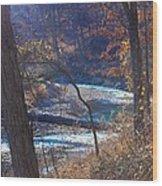 Devils Den State Park Creek Wood Print by Patty Vicknair
