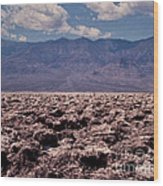 Devil's Golf Course At Death Valley Wood Print