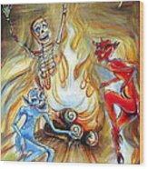 Devil's Inferno Wood Print