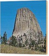 Devils Tower Wyoming -2 Wood Print
