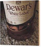 Dewars White Label Wood Print