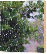 Dewdrops Dimension Wood Print