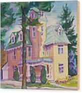 Dewey-radke Glowing Wood Print