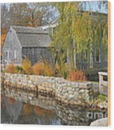 Dexter's Grist Mill Wood Print by Catherine Reusch Daley