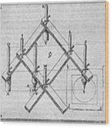 Diagram Of A Pantograph Wood Print