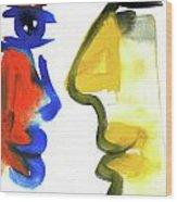 Dialogos 35 Wood Print