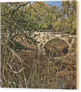 Diamond Creek Double Arch Bridge Wood Print