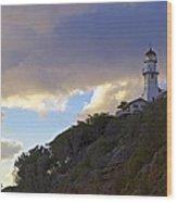 Diamond Head Lighthouse 1 Wood Print