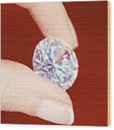Diamond Wood Print by Lawrence Lawry