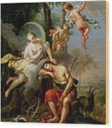 Diana And Endymion Wood Print