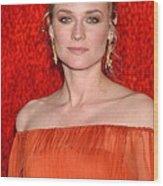 Diane Kruger Wearing A J. Mendel Dress Wood Print by Everett