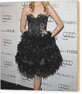 Dianna Agron At Arrivals For Audi Wood Print by Everett