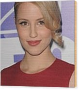 Dianna Agron In Attendance For Fox 2010 Wood Print by Everett
