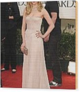 Dianna Agron Wearing A J. Mendel Dress Wood Print by Everett