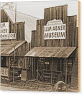 Dick Huddleston Store Est. 1909 Wood Print