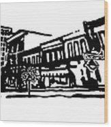Dickson Street In Fayetteville Ar Wood Print