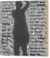 Diction Wood Print by Betsy Knapp