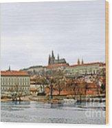 Die Moldau - Prague Wood Print by Christine Till