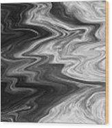Digital Cloud Abstract Wood Print