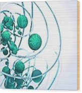 Digital Communication, Conceptual Artwork Wood Print