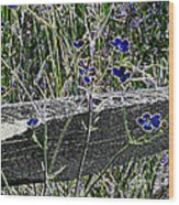 Digital Daisies Wood Print