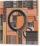 Digital Design 385 Wood Print