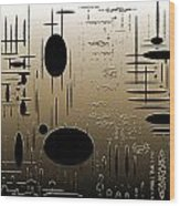 Digital Dimensions In Brown Series Image 2 Wood Print